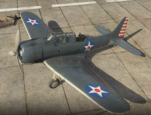 SBD-3 Dauntless im Hangar (War Thunder)